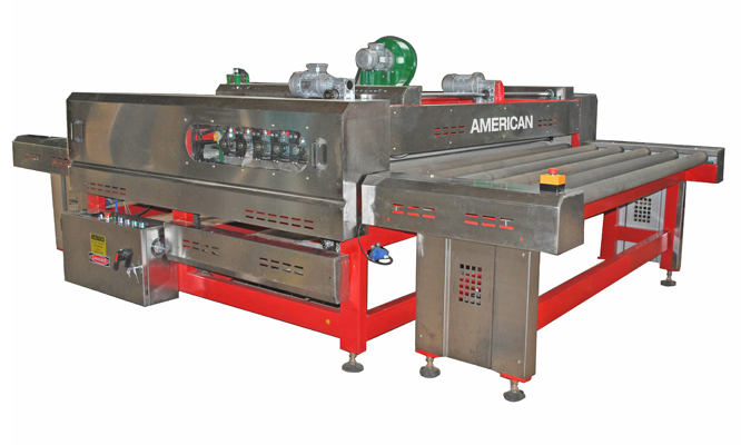 American Heated Oven Roller Press Side