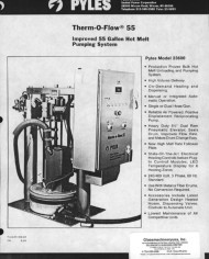 PYLES THERMOFLOW 55 1 OF 2 LITERATURE